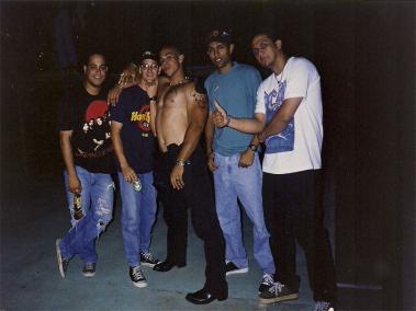 """Primer alineación de """"DIESEL"""", de izquierda a derecha: Ramsés Cairo, Christian Gómez, Héctor Nicassio, Raul Suazo y Wilson López."""