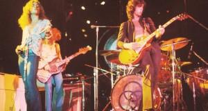 Robert Plant y el guitarrista Jimmy Page integrantes de la extinta banda de rock Led Zeppelin