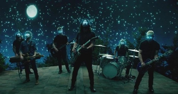 "A still from Foo Fighters' ""The Sky Is The Neighborhood"" video."